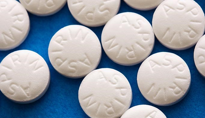 Aspirin helps in some cancers
