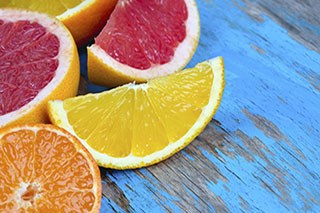 Regularly orange juice or grapefruit consumption may increase melanoma risk.
