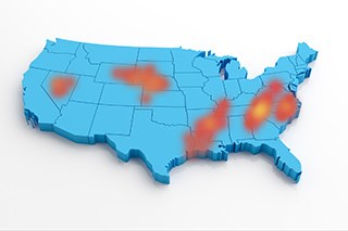 """""""Hot spots"""" of high colorectal cancer mortality remain."""