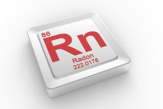 The radioactive gas radon has been linked to lung cancer.
