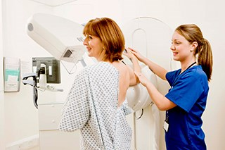The aim of screening mammography is to detect small malignancies before they are large enough to be symptomatic.