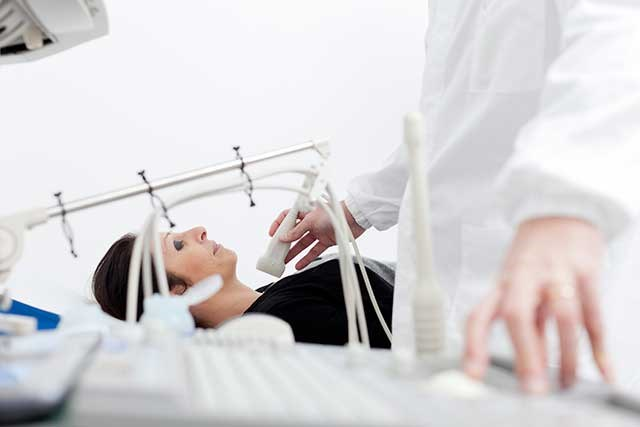 Ultrasound is one standard method of thyroid cancer screening.