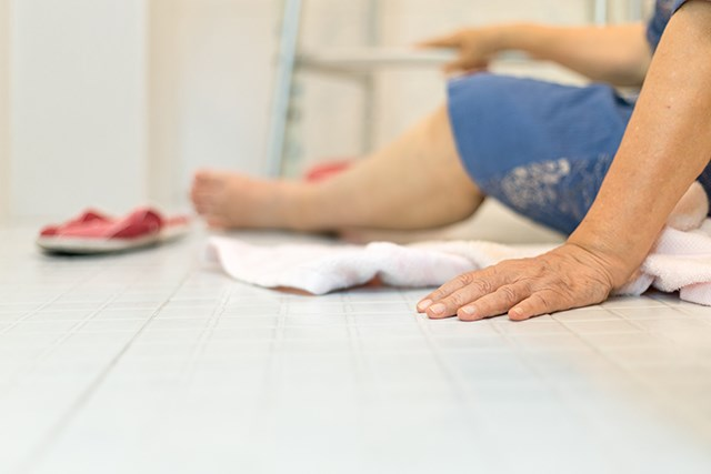 Frailty and cognitive impairment may contribute to a greater risk of falling and fractures.