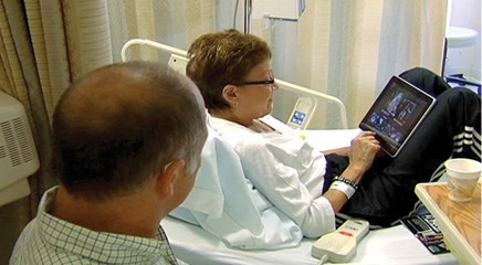A new role for technology in cancer care: iPads help patients endure treatments