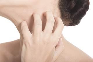 Skin cancer on neck