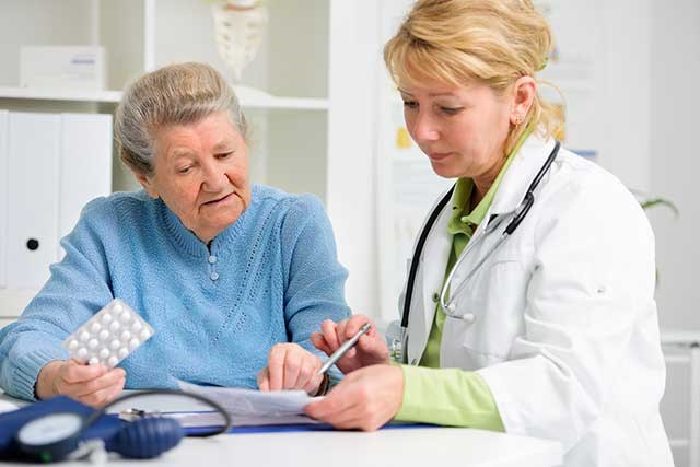 Common interventions for older cancer patients are referrals to a dietitian, social worker, and geriatrician.