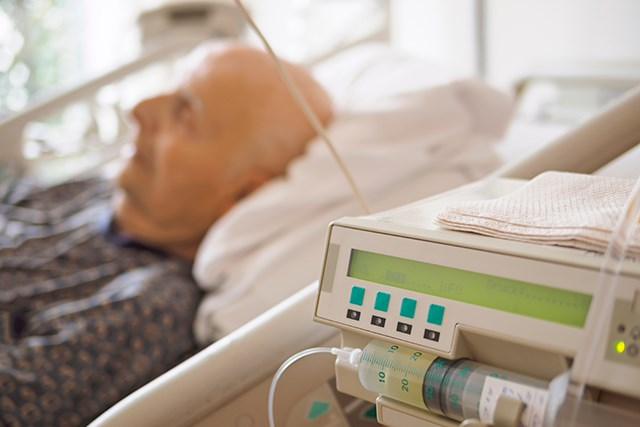Patient in a palliative care unit.