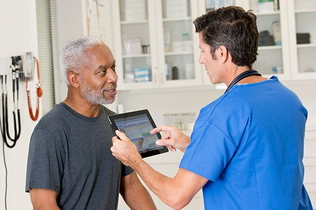 The April 2017 update to the USPSTF recommendations indicate healthcare providers should inform patients ages 55 to 69 about the pros and cons of PSA screening.